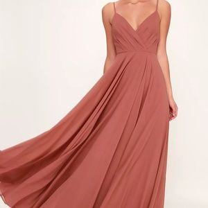 All About Love Rust Rose Maxi Dress